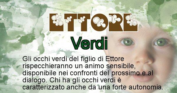Ettore - Colore degli occhi per il figlio di Ettore