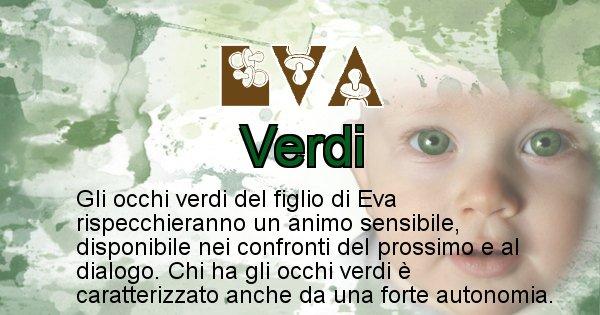 Eva - Colore degli occhi per il figlio di Eva
