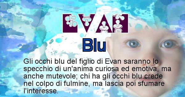 Evan - Colore degli occhi per il figlio di Evan