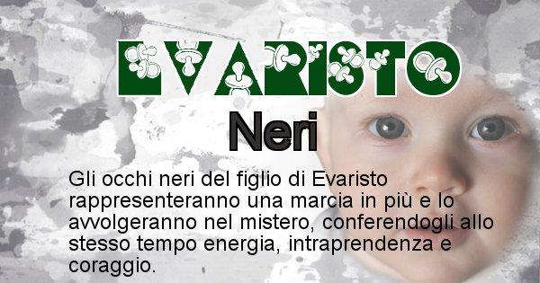 Evaristo - Colore degli occhi per il figlio di Evaristo