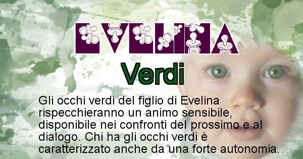 Evelina - Colore degli occhi per il figlio di Evelina
