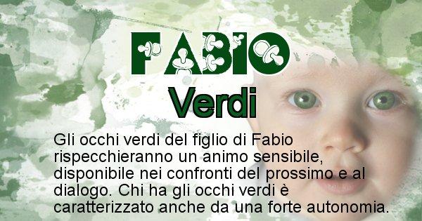Fabio - Colore degli occhi per il figlio di Fabio