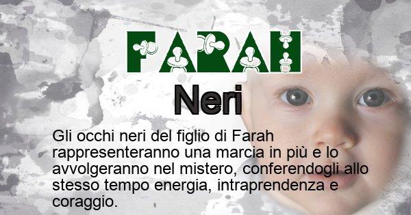 Farah - Colore degli occhi per il figlio di Farah