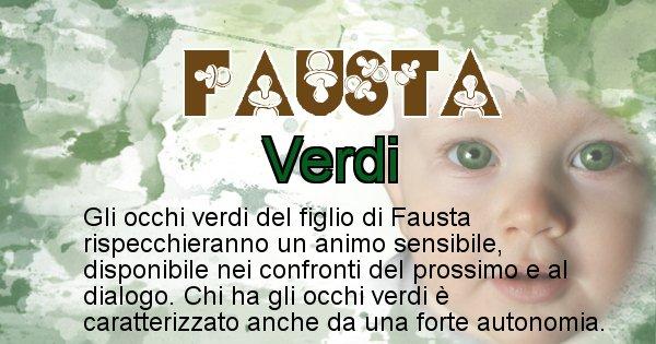 Fausta - Colore degli occhi per il figlio di Fausta