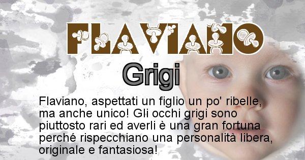 Flaviano - Colore degli occhi per il figlio di Flaviano