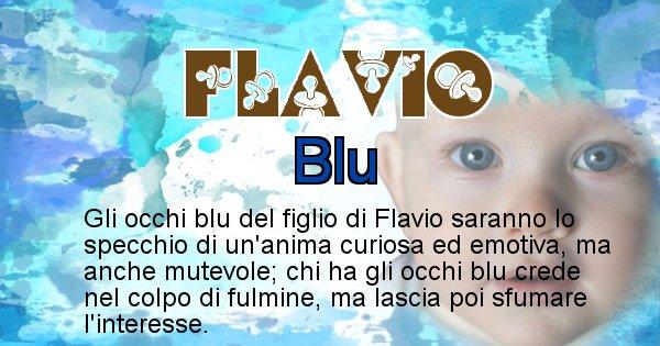 Flavio - Colore degli occhi per il figlio di Flavio