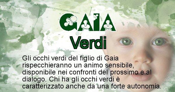 Gaia - Colore degli occhi per il figlio di Gaia