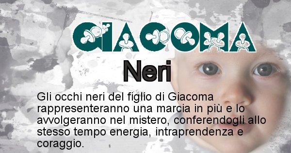Giacoma - Colore degli occhi per il figlio di Giacoma