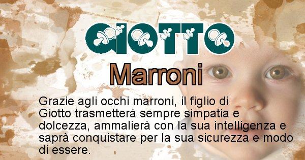 Giotto - Colore degli occhi per il figlio di Giotto