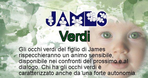 James - Colore degli occhi per il figlio di James