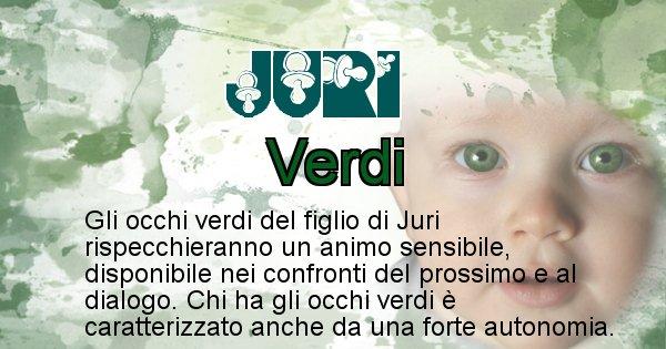 Juri - Colore degli occhi per il figlio di Juri