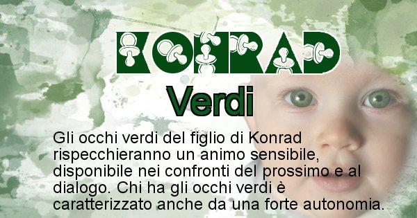 Konrad - Colore degli occhi per il figlio di Konrad