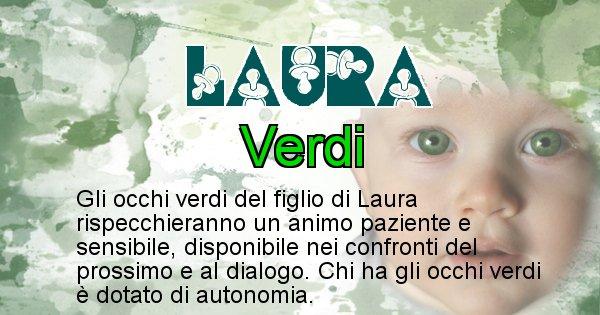 Laura - Colore degli occhi per il figlio di Laura