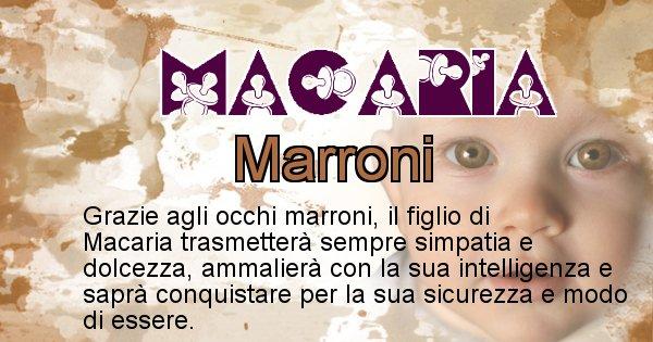 Macaria - Colore degli occhi per il figlio di Macaria