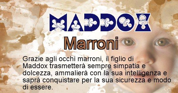 Maddox - Colore degli occhi per il figlio di Maddox