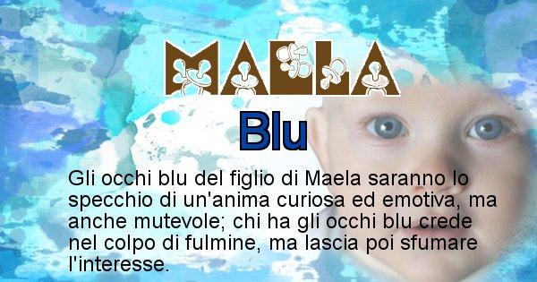 Maela - Colore degli occhi per il figlio di Maela