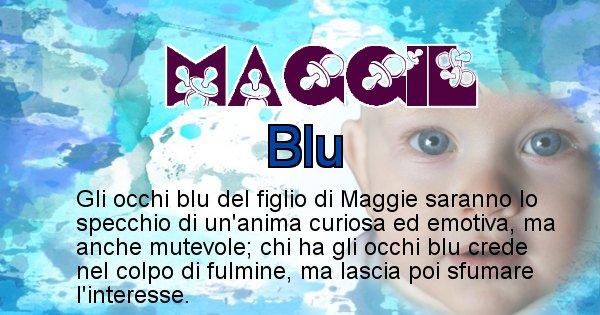 Maggie - Colore degli occhi per il figlio di Maggie