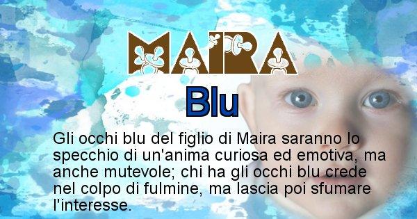 Maira - Colore degli occhi per il figlio di Maira