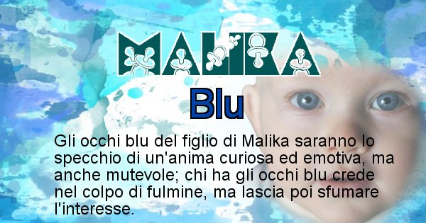 Malika - Colore degli occhi per il figlio di Malika