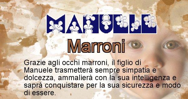 Manuele - Colore degli occhi per il figlio di Manuele