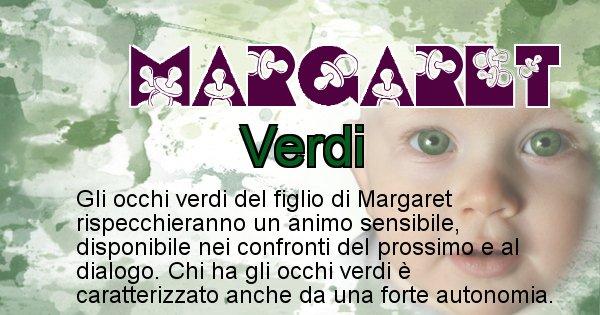 Margaret - Colore degli occhi per il figlio di Margaret