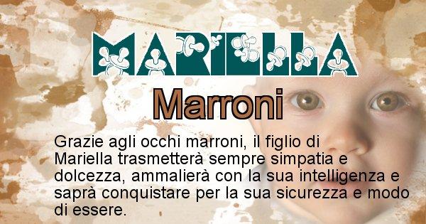 Mariella - Colore degli occhi per il figlio di Mariella