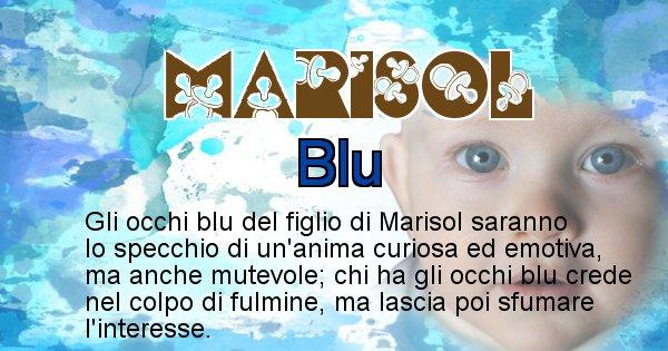Marisol - Colore degli occhi per il figlio di Marisol