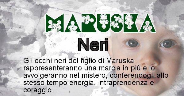 Maruska - Colore degli occhi per il figlio di Maruska