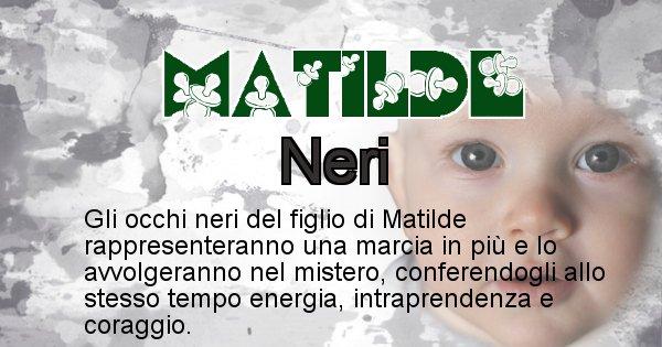 Matilde - Colore degli occhi per il figlio di Matilde