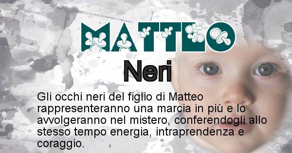 Matteo - Colore degli occhi per il figlio di Matteo