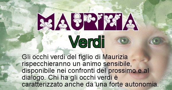 Maurizia - Colore degli occhi per il figlio di Maurizia