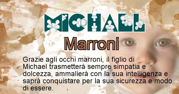 Michael - Colore degli occhi per il figlio di Michael