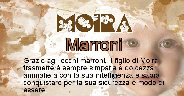 Moira - Colore degli occhi per il figlio di Moira