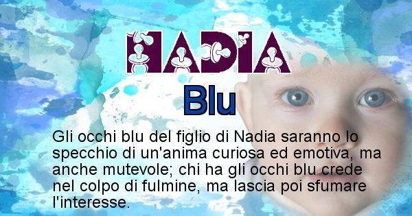 Nadia - Colore degli occhi per il figlio di Nadia