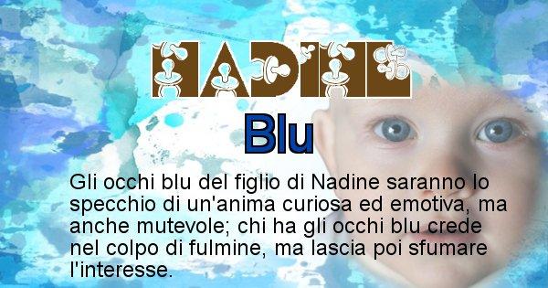 Nadine - Colore degli occhi per il figlio di Nadine