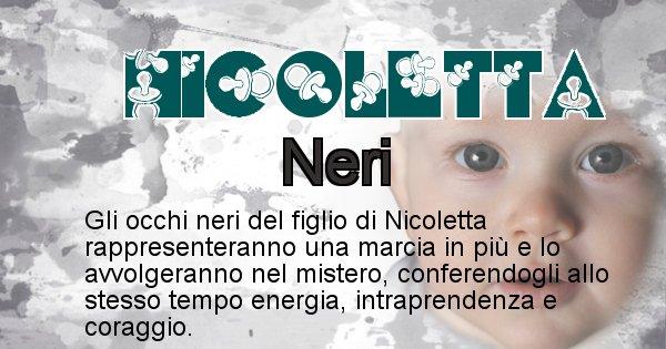 Nicoletta - Colore degli occhi per il figlio di Nicoletta