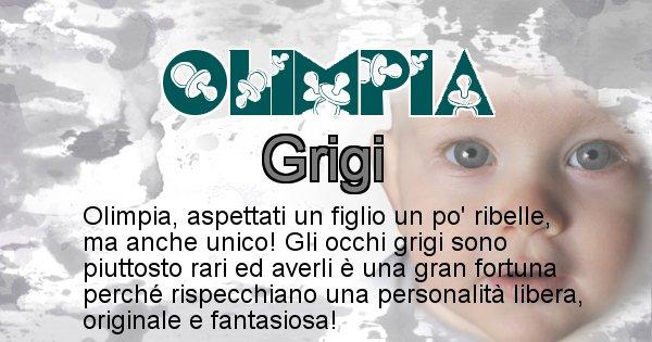 Olimpia - Colore degli occhi per il figlio di Olimpia