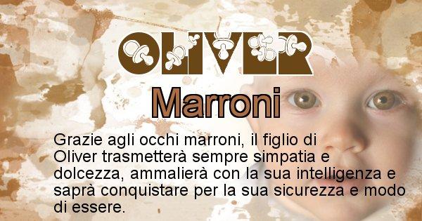 Oliver - Colore degli occhi per il figlio di Oliver