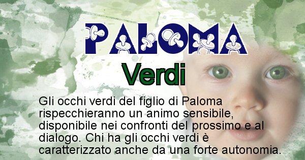 Paloma - Colore degli occhi per il figlio di Paloma
