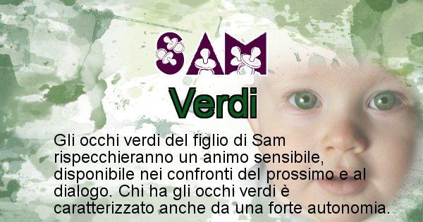 Sam - Colore degli occhi per il figlio di Sam