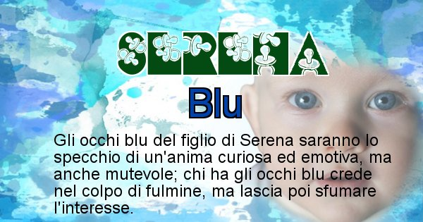Serena - Colore degli occhi per il figlio di Serena