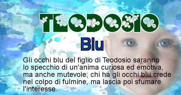 Teodosio - Colore degli occhi per il figlio di Teodosio