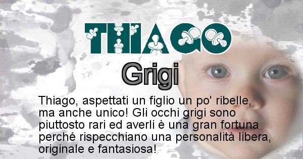 Thiago - Colore degli occhi per il figlio di Thiago