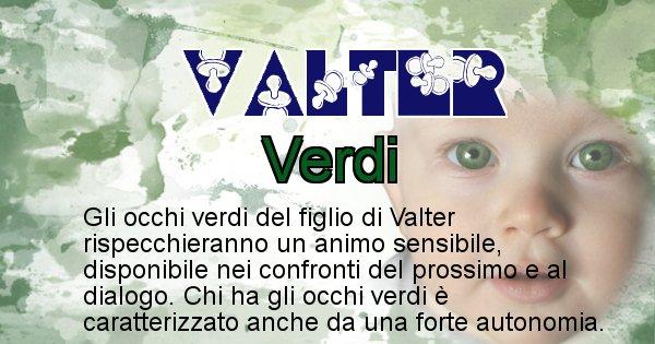 Valter - Colore degli occhi per il figlio di Valter