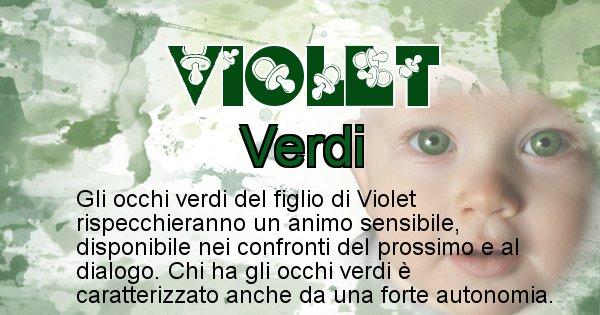 Violet - Colore degli occhi per il figlio di Violet
