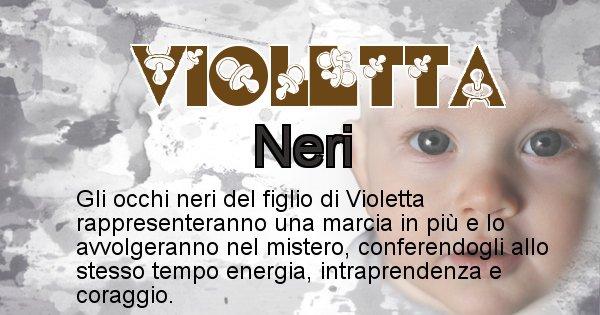 Violetta - Colore degli occhi per il figlio di Violetta