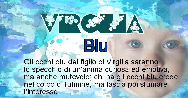 Virgilia - Colore degli occhi per il figlio di Virgilia