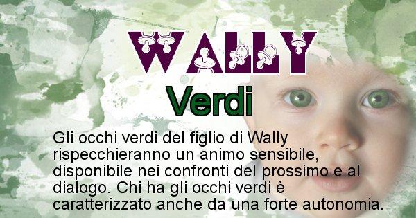 Wally - Colore degli occhi per il figlio di Wally