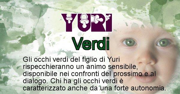 Yuri - Colore degli occhi per il figlio di Yuri
