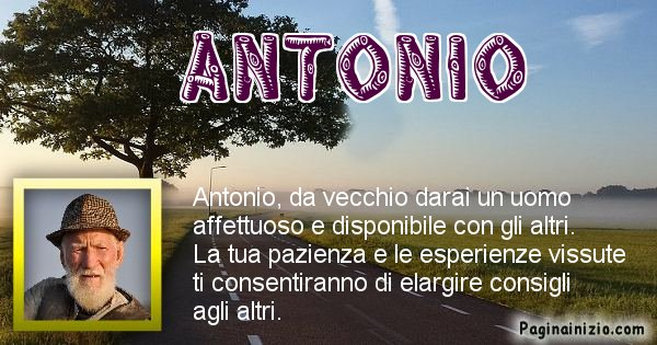 Antonio - Come sarai da vecchio Antonio